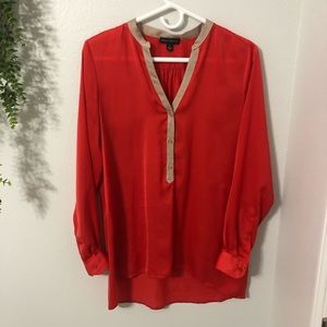 Will Smith Red Holiday long Sleeve Blouse